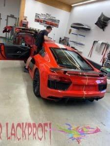 Audi R8 Folierung Heckansicht