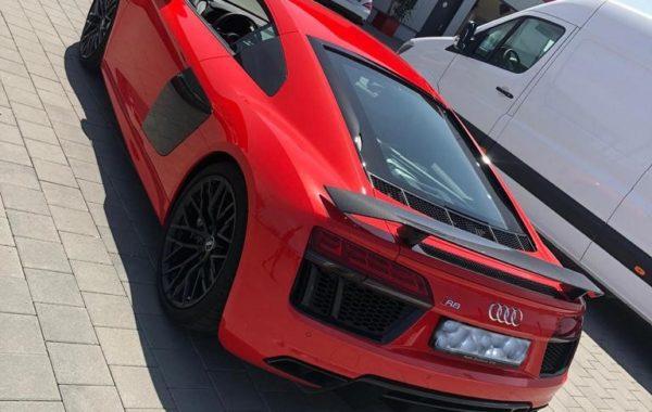 Heckansicht Audi R8 Folierung