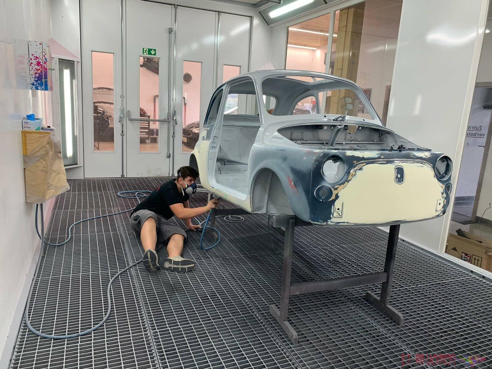 Vorarbeiten Fiat Restauration