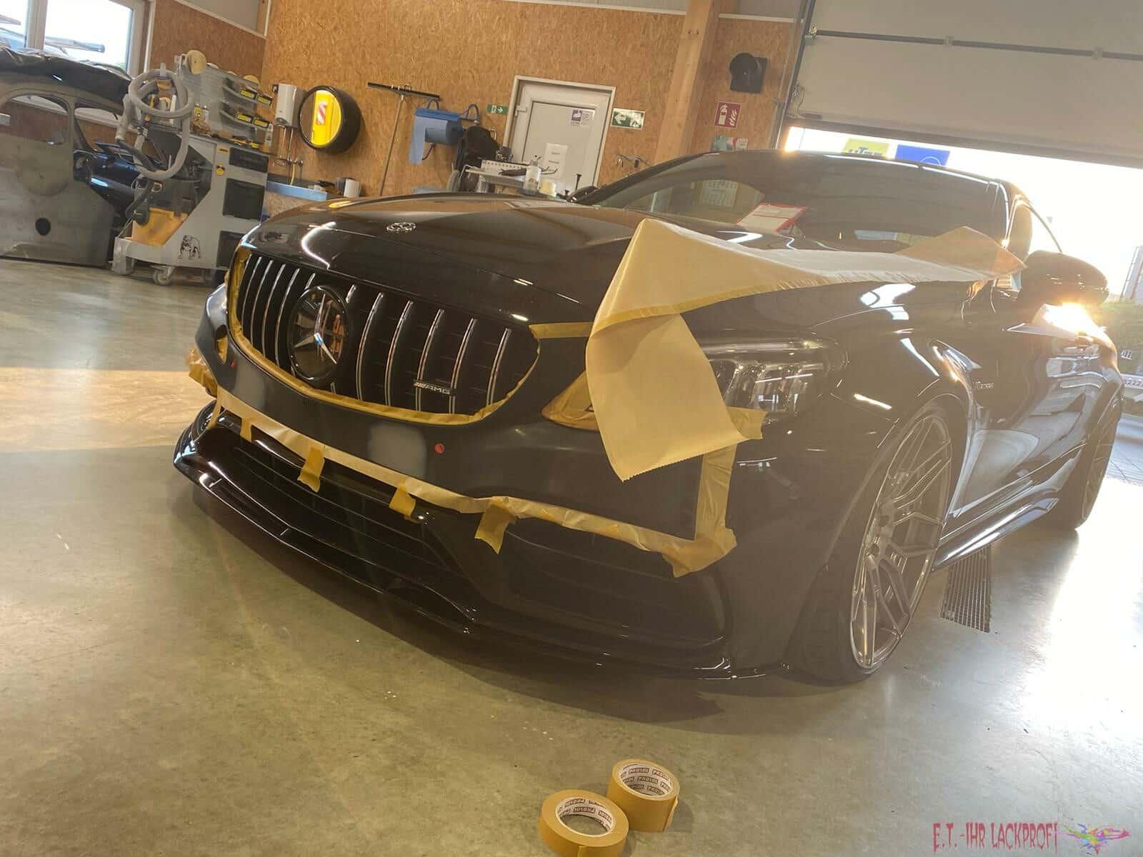 AMG Mercedes Vorbereitung Lackierung